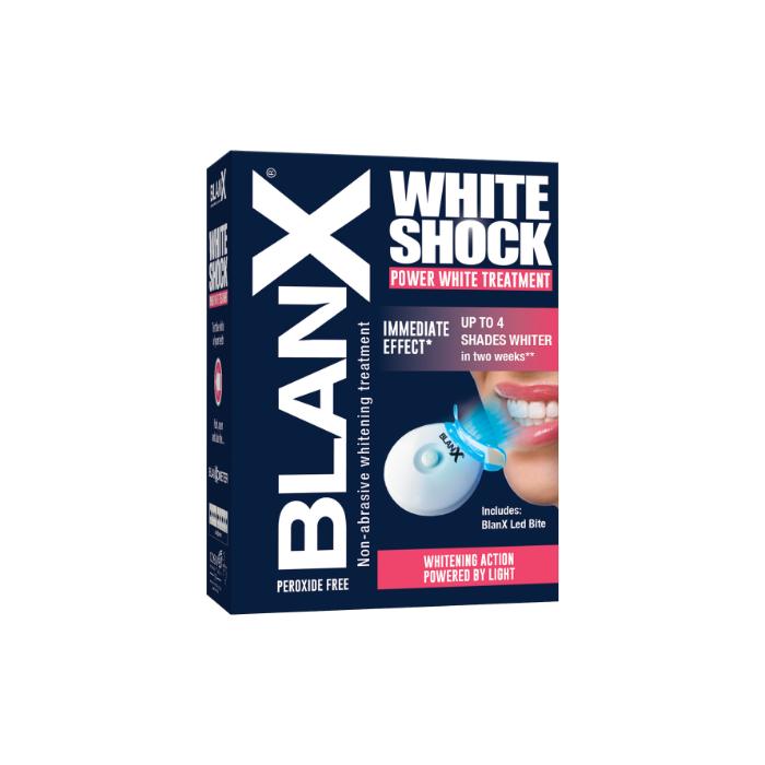 Отбеливающий уход + световой активатор Бланкс BlanX White Shock Treatment + LED, 50 мл