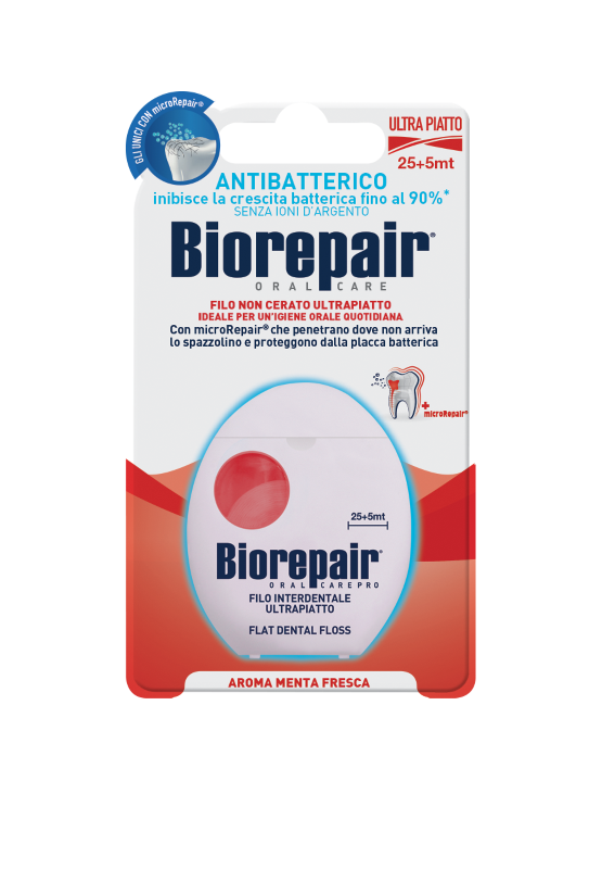 Зубная нить Biorepair® Flat Dental Floss 25+5m