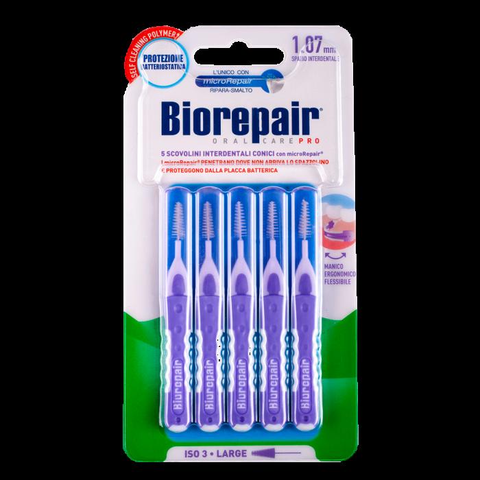 Зубные ершики для Ортодонтических конструкций 1.07 мм Biorepair® Brushes