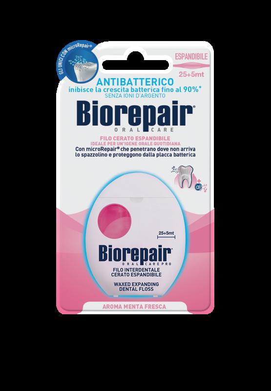 Расширяющаяся зубная нить Biorepair® Expanding Dental Floss 25+5m