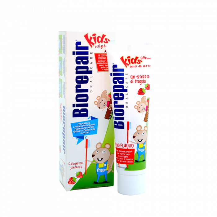 Детская зубная паста Биорепейр 0-6 лет, 50 мл / Biorepair® Kids Strawberry