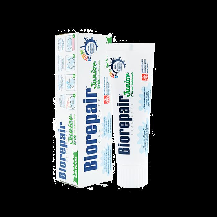 Детская зубная паста с экстрактом мяты 7-14 лет, 75 мл / Biorepair Junior Mint 7-14 year, 75 ml